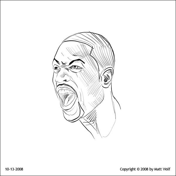 Process • Dwyane Wade Head 01